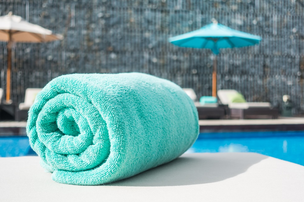 clean beach towels
