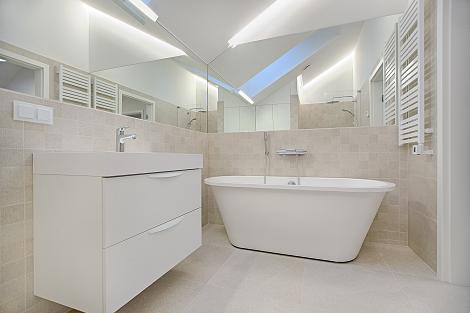 clean bathroom tiles