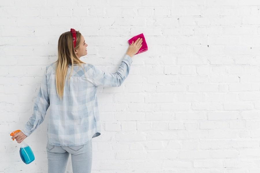 como quitar moho de las paredes
