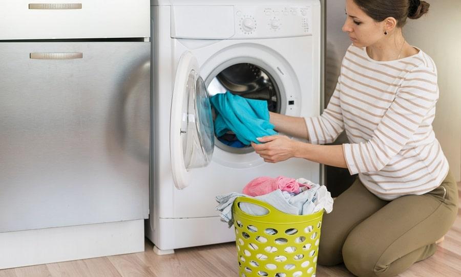 como limpiar la goma de la lavadora