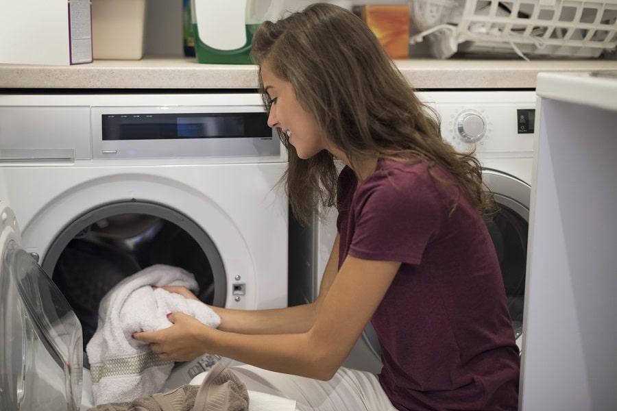 limpiar goma lavadora